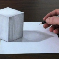 Упражнение — линейно-конструктивное построение куба