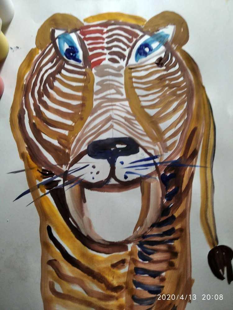 Защищено: 10.7. Урок рисования гуашью. Младшая группа «Калейдоскоп»