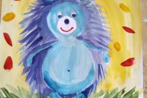 № 4. Ёжик. Онлайн урок рисования для младшей группы «Калейдоскоп»