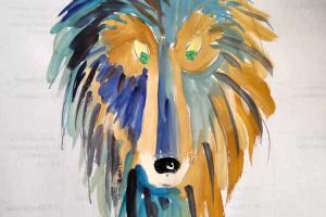 №3. Акела. Онлайн урок рисования для младшей группы «Калейдоскоп»
