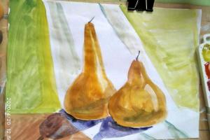 №2. Натюрморт. Урок рисования в старшей группе «АкРис»