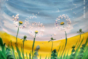 № 6. Одуванчики. Онлайн Урок Рисования Для Младшей Группы «Калейдоскоп»