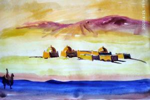 № 9. Пустыня. Онлайн Урок Рисования для всех желающих