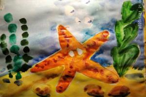 № 13. Морская звезда. Онлайн Урок Рисования Для Младшей Группы «Калейдоскоп»