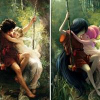 Художник добавляет вклассические полотна персонажей аниме