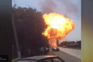 Появились кадры с места взрыва «Газели» в Алтайском крае