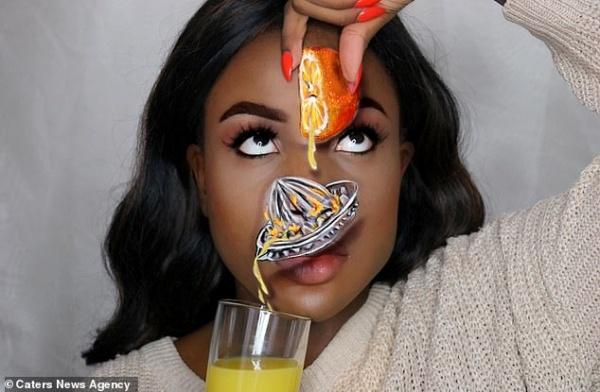 Потрясающие оптические иллюзии налице 20-летней британки