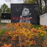 Вандалы испортили граффити сБодровым вПетербурге